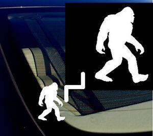 Bigfoot-Sasquatch-Yeti-Car-Window-Vinyl-Decal-Sticker-5-5-034-Tall-White