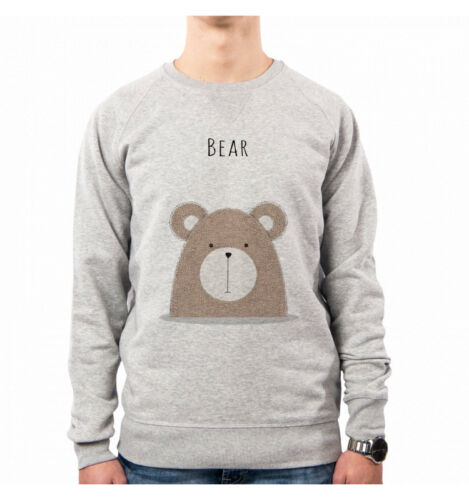 Pacdesign Retro' Funny Sweeties Felpa Cute Uomo Bear Orso Ne0349a Animal Nene a17I4vq
