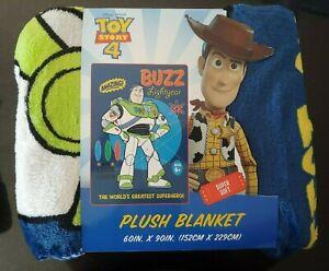 Disney-Pixar-Toy-Story-4-Soft-Plush-Throw-Blanket-60-034-x90-034-Buzz-Lightyear
