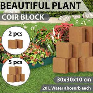 vidaXL 2/5x Coir Block 5kg Coco Block Cocopeak Coir Compost Coconut Fibre