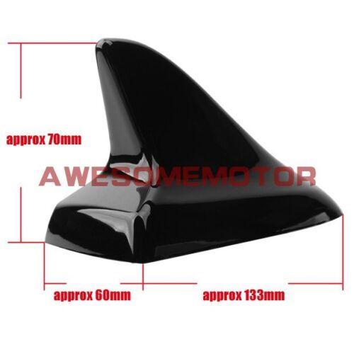 US Black Shark Fin Style Dummy Antenna Aerial Roof Decor For Honda Civic Accord