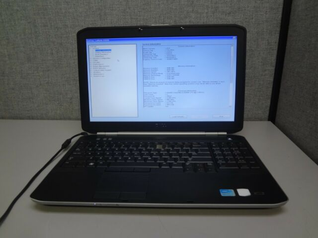 "Dell Latitude E5520 15.6"" Core i3 2.2GHz 4GB  NO HDD NO BATTERY Laptop NO AC"