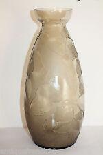 Verame? Legras? gros vase Art Deco verre dégagé à l'acide, non signé. 36cm