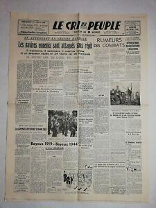 N1185-La-Une-Du-Journal-Le-cri-du-peuple-12-juin-1944-navires-ennemis-attaques