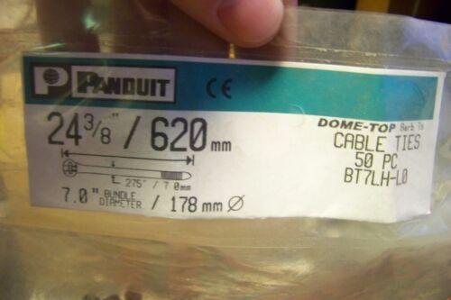 "Black Cable Ties, NEW Panduit BT7LH-L0 24 3//8/"" 50 Pack"