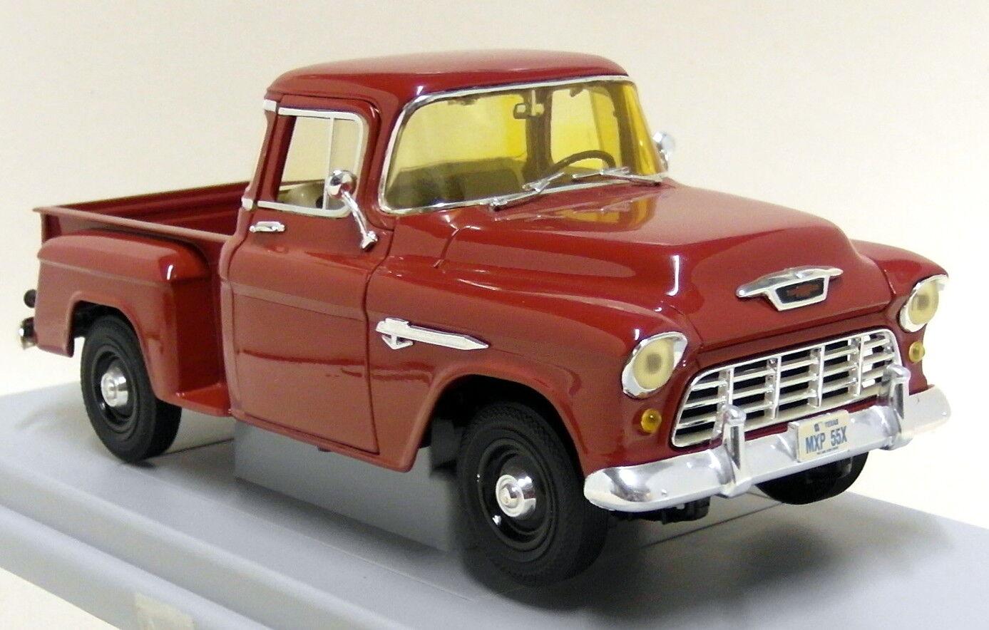 Ertl Escala 1 18 - 7788 1955 Chevy 3100 Stepside Pickup rosso Diecast Modelo de Coche