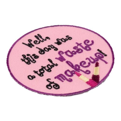 Total Waste of Makeup Lipstick Patch Embroidered Ladies Patches
