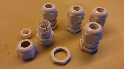 Lot de 5 presse étoupe noir étanche PG11 pour câble de 5 à 10mm,perçage de 18mm