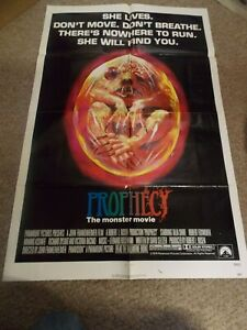 """PROPHECY(1979) TALIA SHIRE ORIGINAL ONE SHEET POSTER 27""""BY41"""" NICE!"""