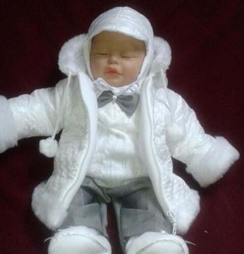 Taufanzug Festanzug Winterjacke Jacke Hose Taufe Baby Junge Anzug SET Winter neu