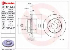 2x disco de freno nuevo freno brembo 09.4914.34