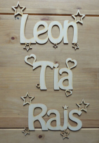Personalised Wooden Name Plaques Words//Letters Wall//Door Art//craft//Sign alphabet