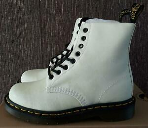 dr martens pascal boot in white glitter