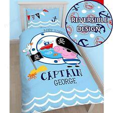Peppa Pig George Pirate Single Panel Duvet Cover Set Kids Bedding