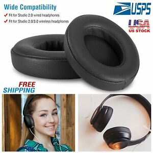 2x-Replacement-Ear-Pad-Cushion-for-Beats-by-dr-dre-Studio-2-0-Headphone-Wireless