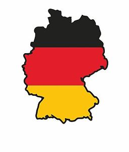 Details Zu Auto Pkw Kfz Landkarte Flagge Deutschland Aufkleber Sticker Schwarz Rot Gold