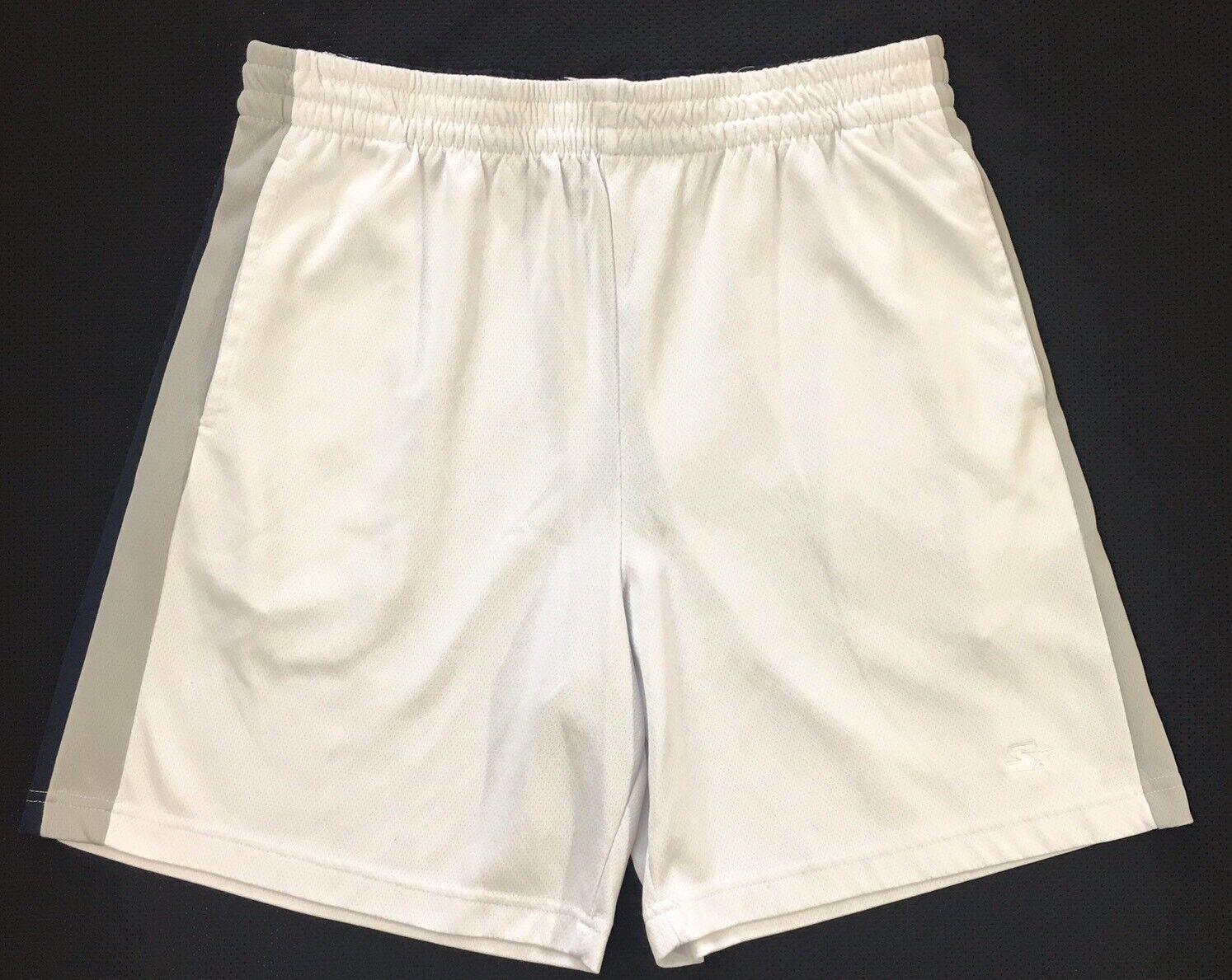 STARTER Men's White Basketball Athletic Shorts Size L Large 36 38