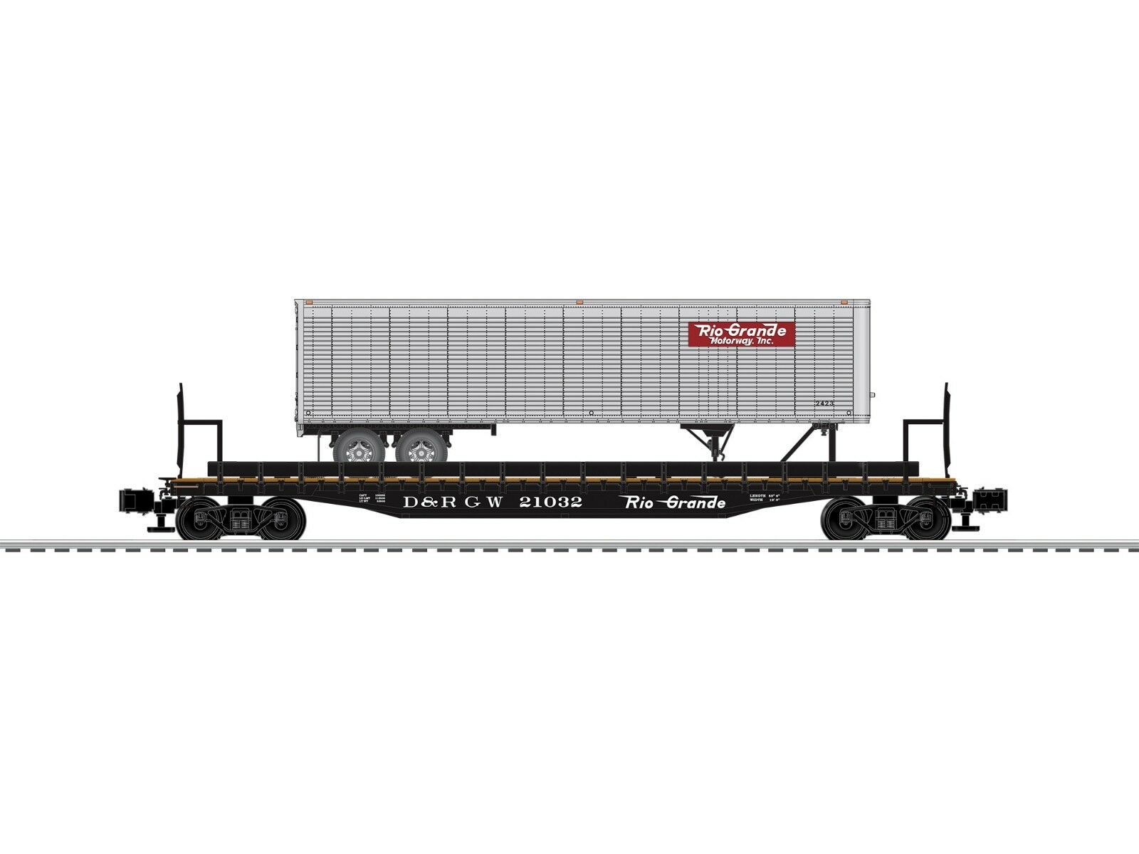 O-Gauge - Lionel - D&RGW PS4  21032 w 40'Trailer