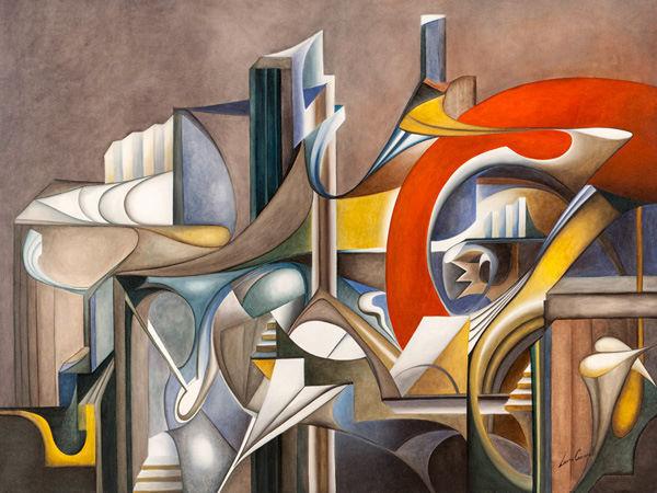 Laura Ceccarelli  Tramonto Keilrahmen-Bild Leinwand abstrakt bunt modern