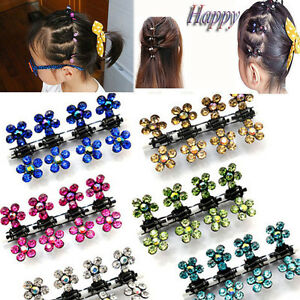 6-12-PCS-Lots-Girls-Sweet-Rhinestone-Crystal-Flower-Mini-Hair-Claws-Clips-Clamps