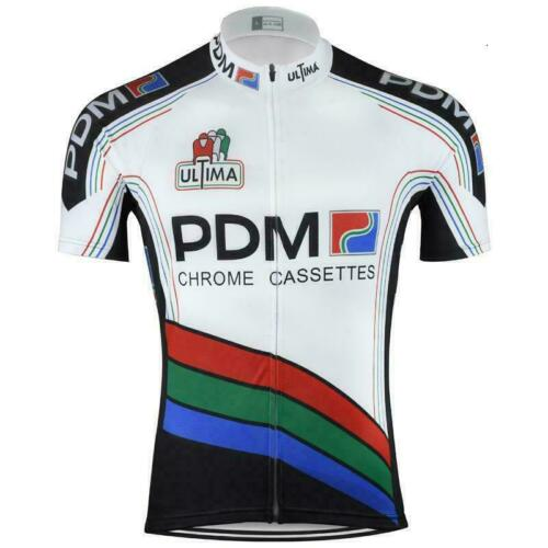 1988 PDM Ultima Chrome Cassettes Cycling Jersey mens Cycling Short Sleeve Jersey
