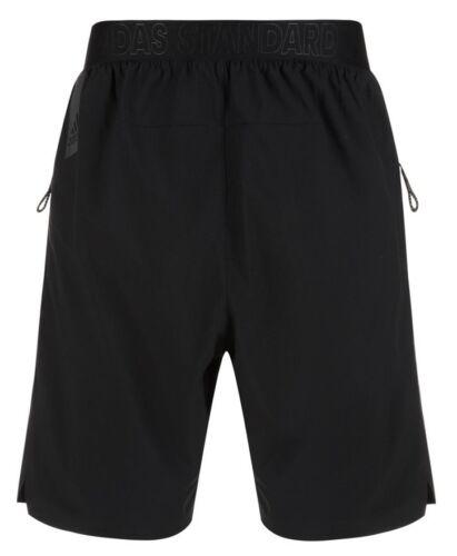 New Mens Adidas Standard19 Training Long Shorts Black Fitness Gym Sports