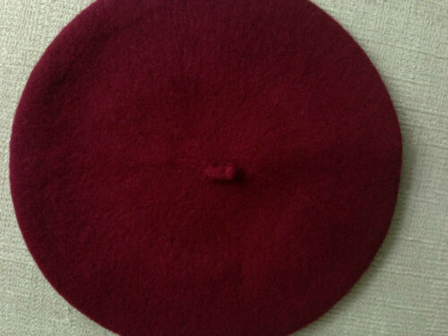French Style Vintage Wool Warm Plain Beret Beanie Hat Cap
