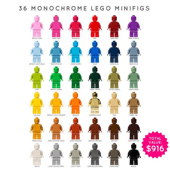 LEGO  SET OF 36  MONOCHROME MINIcifraS (MONOFIGS)  protezione post-vendita