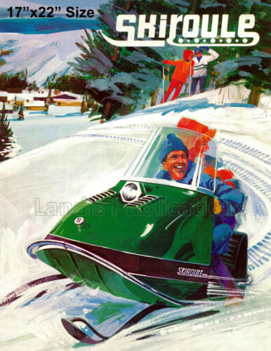Vintage Advertising Poster 1968 Skiroule Snowmobile