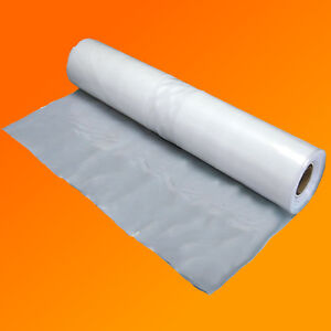 4M X 50M 750G CLEAR HEAVY DUTY POLYTHENE PLASTIC SHEETING GARDEN DIY MATERIAL