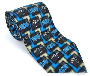 Carolina-Panthers-100-Silk-Mens-Tie-NFL-Blue-NC-North-Carolina