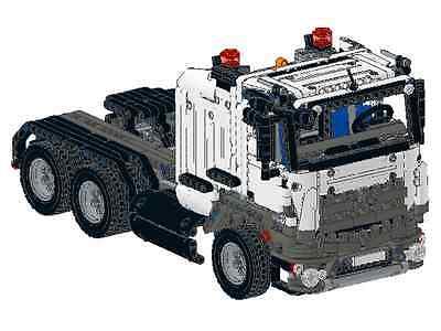 bauanleitung truck mercedes lkw rc 42043 eigenbau unikat moc aus lego technic st ebay. Black Bedroom Furniture Sets. Home Design Ideas