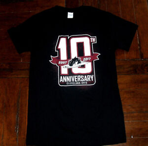Cleveland-Monsters-10th-Anniversary-2017-Black-SMALL-T-Shirt-AHL-Minor-Hockey