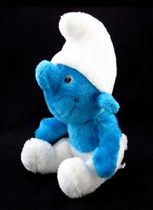 Vintage-Peyo-Schleich-1980-Smurf-Plush-30cm-Soft-Toy-Schlumpf