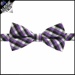 Boys-Purple-Black-and-White-Check-Bow-Tie