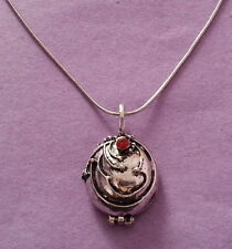 Elena's Vervain Locket Necklace Inspired by The Vampire Diaries Antique Silver