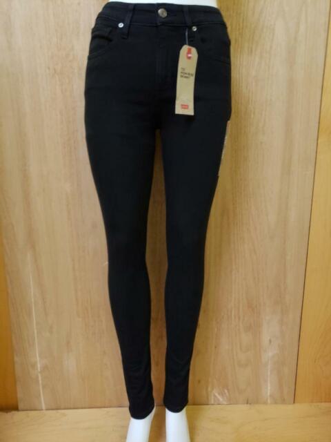 Levi's 721 Damen Skinny Fit High Rise Zip Fly Stretch Jeans Soft schwarz
