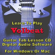 VOLBEAT Guitar Tab Lesson CD Software - 44 Songs