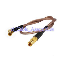 MMCX Jack female to SSMB plug male right angle RF pigtail coax cable RG316 15cm