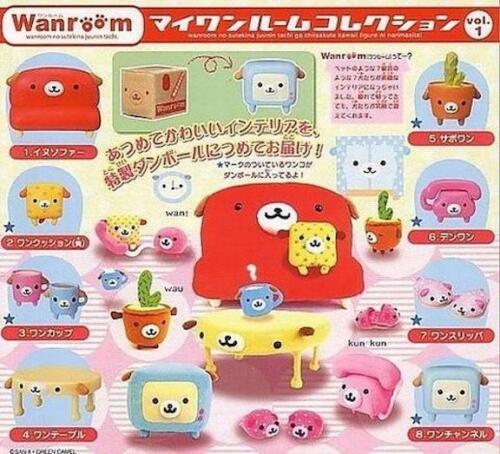 Bandai San-X Wanroom Mini Furniture Vol 1 Gashapon Figure Set of 8