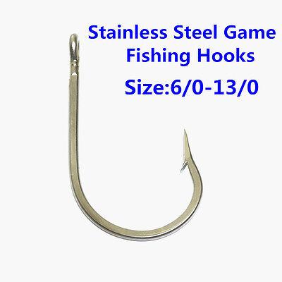 MARLIN SHARK FISHING HOOKS 7691S #6//0 15 PCS BIG GAME STAINLESS STEEL TUNA
