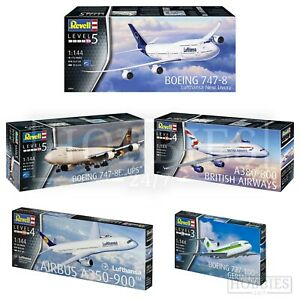 Revell-Avion-1-44-model-kits-BOEING-AIRBUS-British-Airways-Lufthansa-UPS