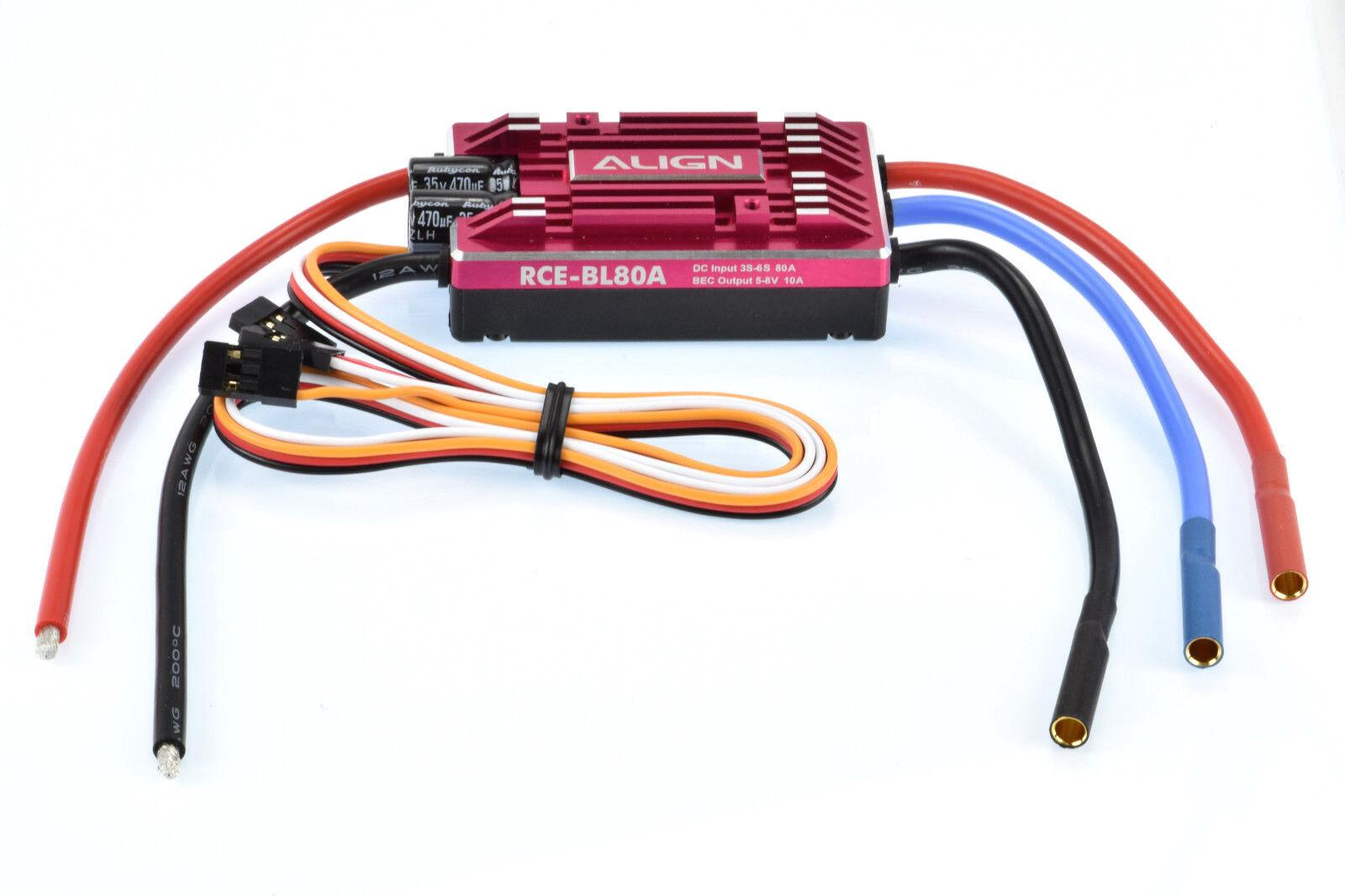Align RCE-BL80A 80Amp sin Escobillas Electrónico Control de Velocidad Esc