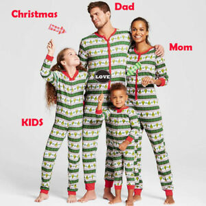 Family-Matching-Christmas-Pajamas-Set-Women-Baby-Kid-Pumpkin-Sleepwear-Nightwear