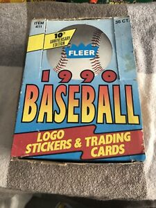 1990-FLEER-BASEBALL-CARDS-UNOPENED-BOX-36ct-SOSA-Rookie-PSA-10-Becoming-RARE