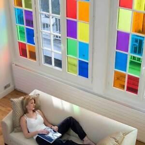 Película Adhesivo Colorido Transparente Liso Decoración Autoadhesivo Para Vidrio