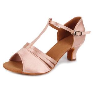 Women-039-s-Girl-039-s-lady-039-s-Ballroom-Latin-Tango-Dance-Shoes-heeled-Salsa-Dancing-shoe