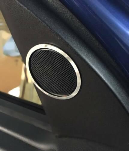 D Opel Astra G Chrom Ringe für kleine Türlautsprecher oben Edelstahl poliert