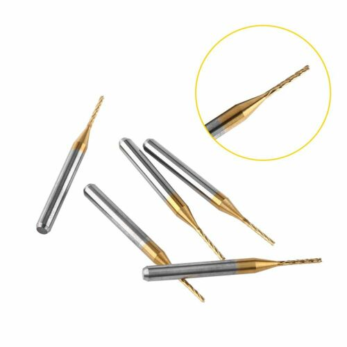 10pcs Tungsten Carbide 1mm End Mill Engraving Bits for CNC PCB