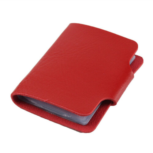 Men 24 Cards Slim PU Leather ID Credit Card Holder Pocket Case Purse Wallet Hot